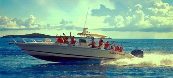rent a boat rentals, charter a boat St. Thomas USVI Virgin Islands, come snorkel and see sea turtles
