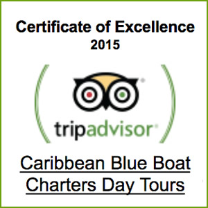 Certificate of Excellence rent a boat in St. Thomas US VIrgin Islands Charter a boat in Caribbean
